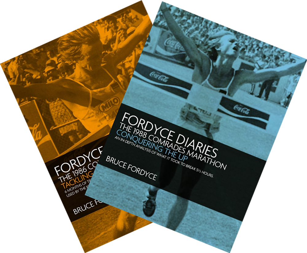 Bruce Fordyce Training Diaries for the Up and Down Run Comrades Marathon.