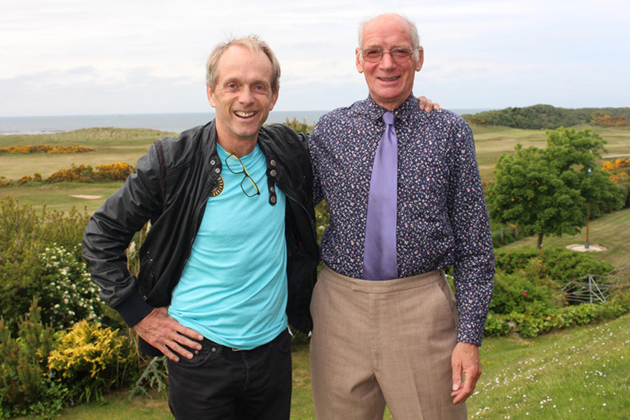Bruce Fordyce and Don Ritchie, both ultra-marathon record-holders.