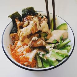 Chicken Teriyaki Sushi Bowl