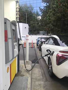 Filling up Toyota Mirais at the Burnaby hydrogen station