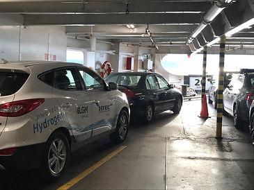 Hyundai Tucson FCEV on BC Ferries vessel headig to Vancouver Island