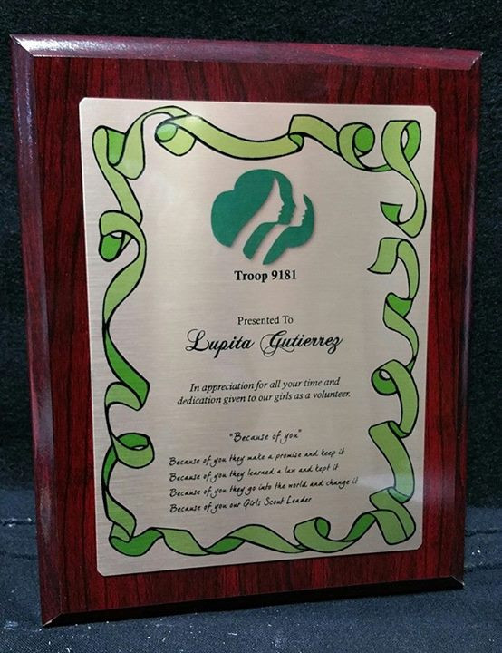 Sublimated Plaque (8x10)