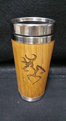 Bamboo Tumbler, laser engraved