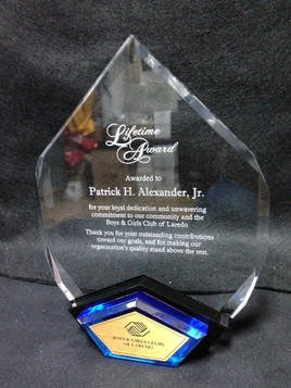 Acrylic Award with Blue Accent, also comes with Gold Accent.jpg