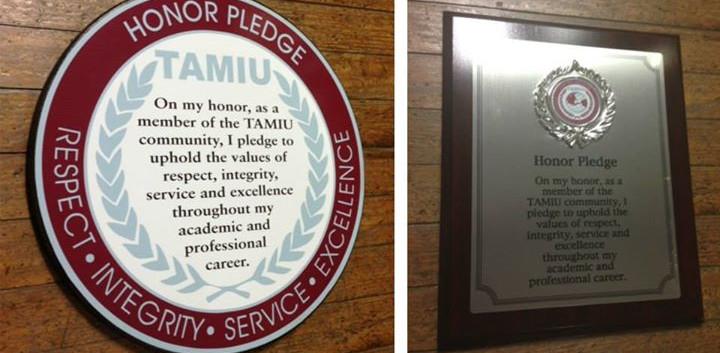 TAMIU Plaques (Custom)