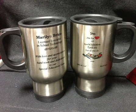 Sublimate-able Stainless Steel Travel Mugs