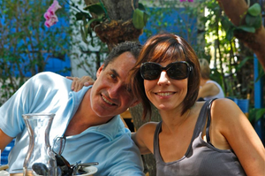 Jodi & Stu at a Miami cafe April 2012