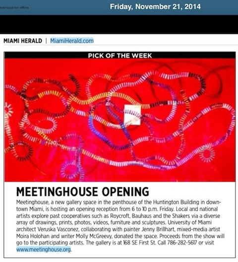 Miami Herald Pick of the Week leading up to Art Basel