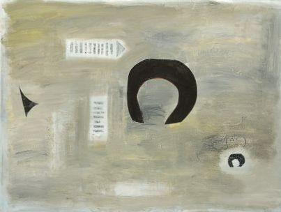 "Nice Fro, Bro, acrylic, paper on canvas, 36""x48"", 2005, Stuart Sheldon"