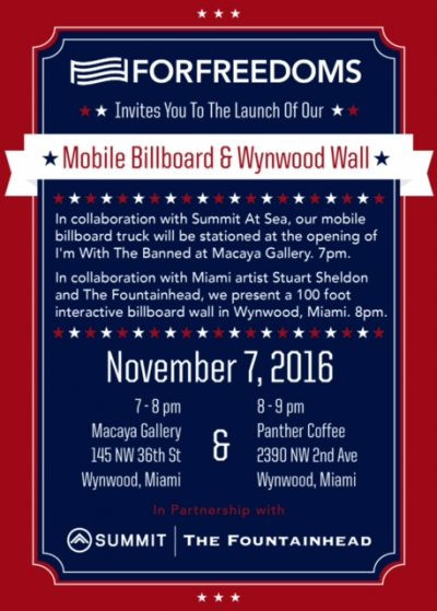 For Freedoms Wall Debut