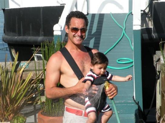 Stu & Kai on the houseboat 2008