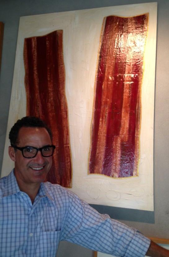 "Alter Ego, acrylic on paper on canvas, 40""x30"", 2007, Stuart Sheldon"