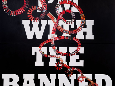 """""""American Banned"""" Political Art Show, Miami New Times"""