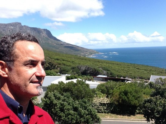 Capetown, S. Africa. One of my favorite places. On the balcony of some of my favorite people.
