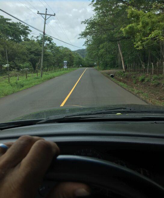 Playa Grande road