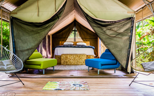 Glamping in deluxe air-conditioned African tents