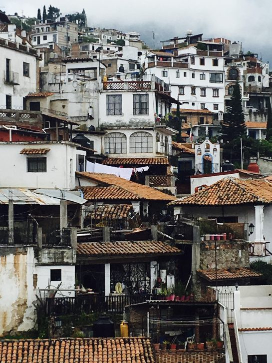 The hillside town of Taxco, Mexico