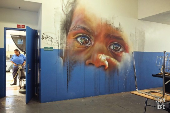 Amazing wall by Melbourne artist Adnate. Photo by Sean R. Sullivan