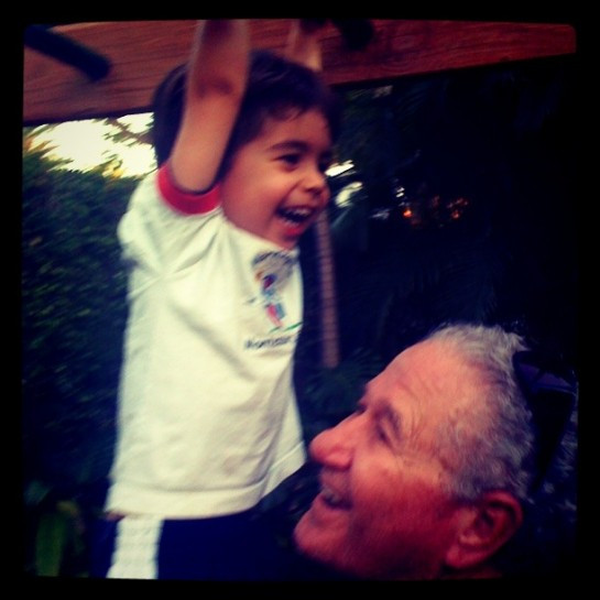 My dad and my son - The goal posts of my life