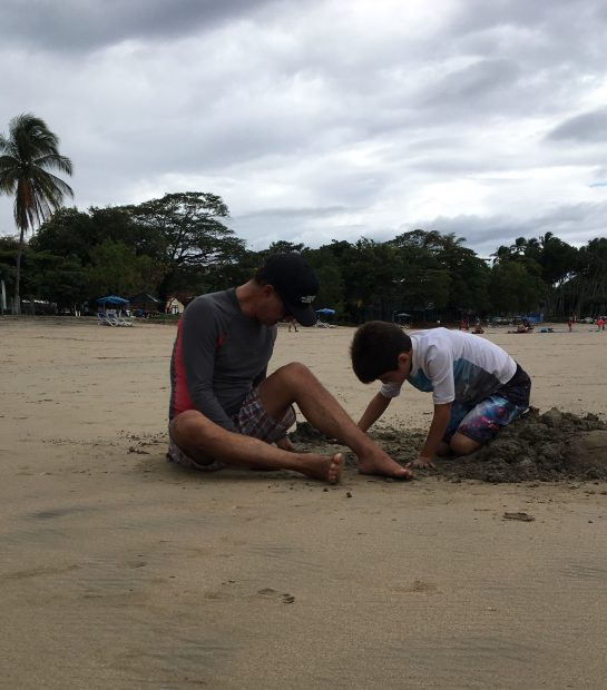 Father & Son Dig a Hole