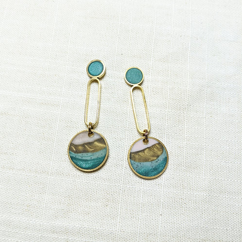 One of a Kind Long Baby Drops Earrings in Agate