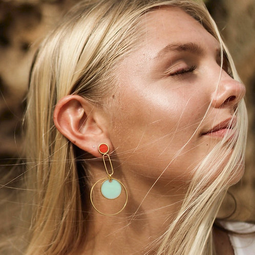 Ripples Earrings in Your Choice of Colors
