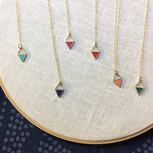 Triangle Reflection Necklace - Ready to Ship