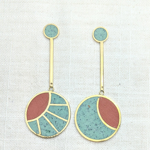 Sun and Moon Earrings - Ready to Ship