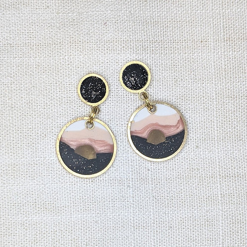 Ready to Ship Baby Drops Earrings in Sandia Sunset