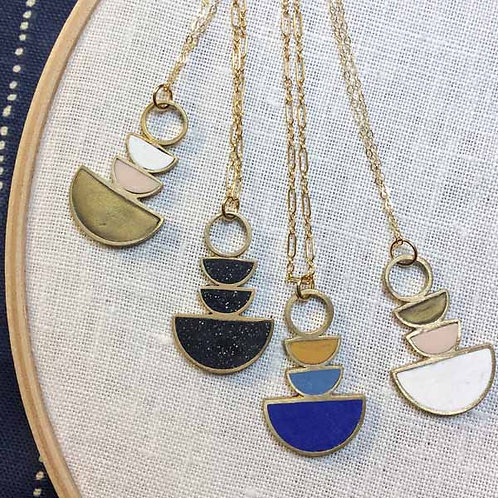 Moon Phases Necklace in Your Choice of Colors