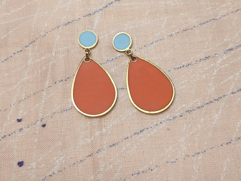 Rain Drop Earrings in Your Choice of Colors