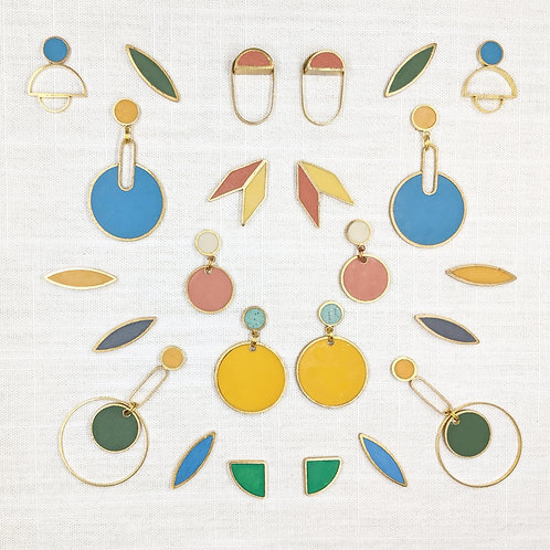Ready to Ship Earrings in Summer Camp Colors