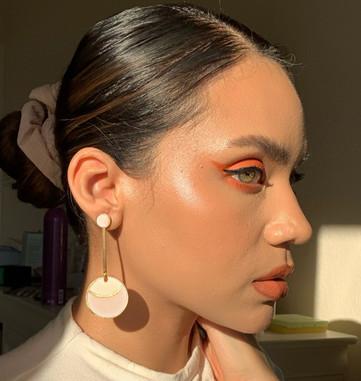 Customized Moon Drop Earrings