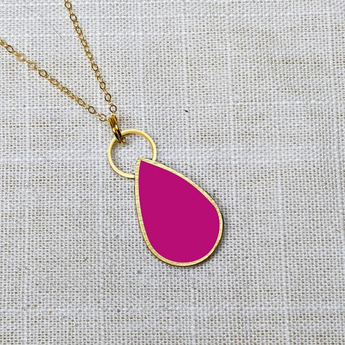 Simple Drop Necklace in Your Choice of Colors