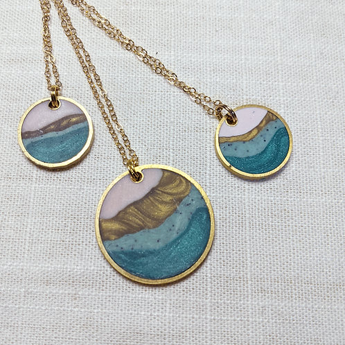 Limited Edition Agate Circle Necklaces - 2 sizes