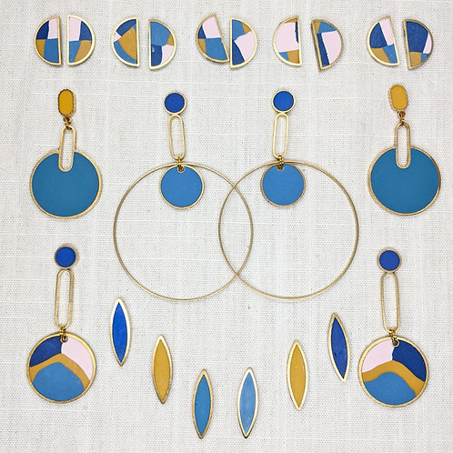 Ready to Ship Earrings in the Denim Colorway (Retired)
