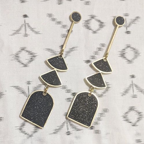 XL Rain Chain Earrings in Your Choice of Colors