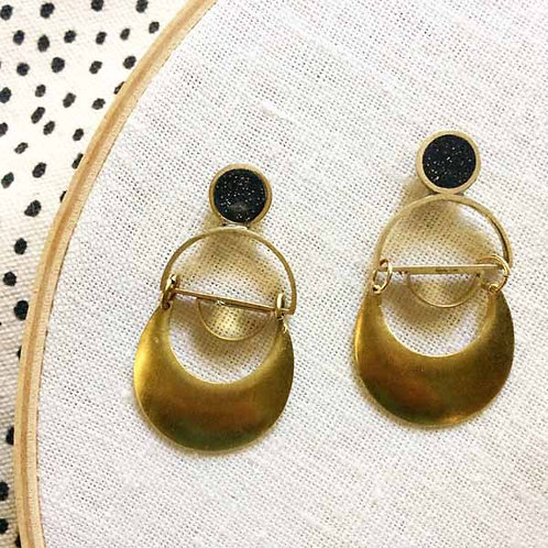 Saturn's Rings Earrings in Your Choice of Colors