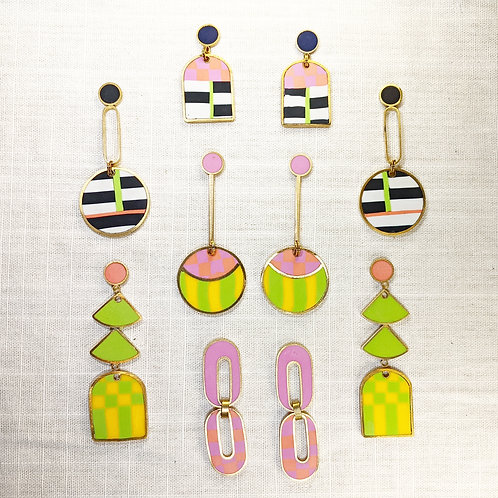 Ready to Ship and One of a Kind Earrings  inspired by Memphis Milano