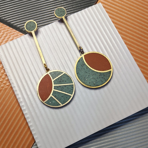 Sun and Moon Earrings in Your Choice of Colors