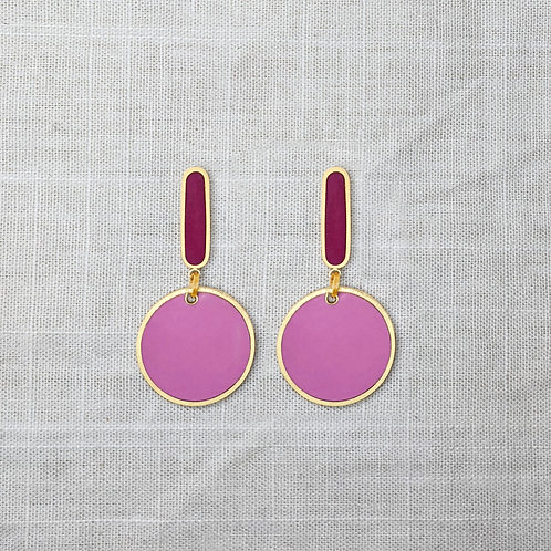 Oval Drops Statement Earrings in Your Choice of Colors