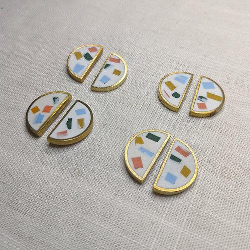 Half Moon Earrings in SoCal Confetti