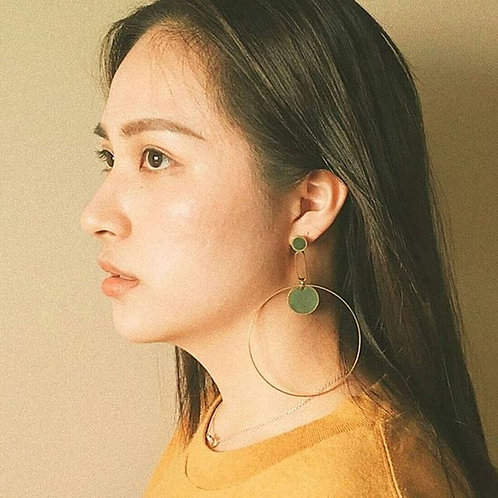 XL Orbit Statement Earrings in Your Choice of Colors
