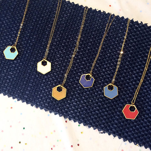 Hexagon Necklace - Ready to Ship