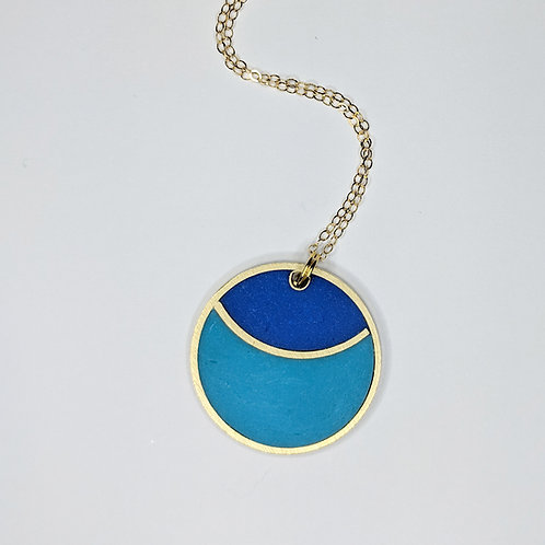 Moon Necklace in Your Choice of Colors