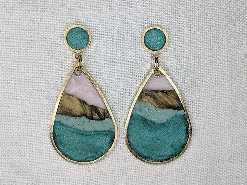 Agate Rain Drop Earrings