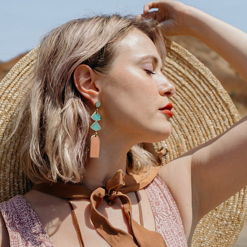 Rain Chain Earrings in Your Choice of Colors