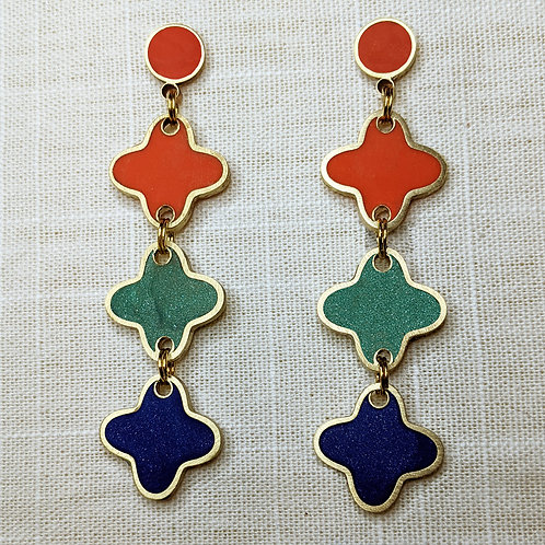 Star Chain Earrings in Your Choice of Colors