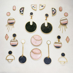 Unique earrings from the Sandia collection.