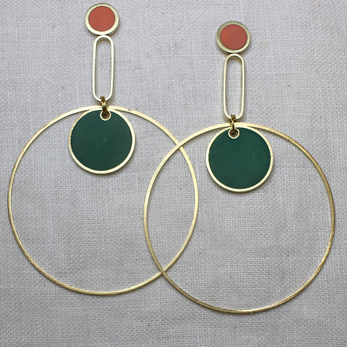 Orbit Statement Earrings in Your Choice of Colors